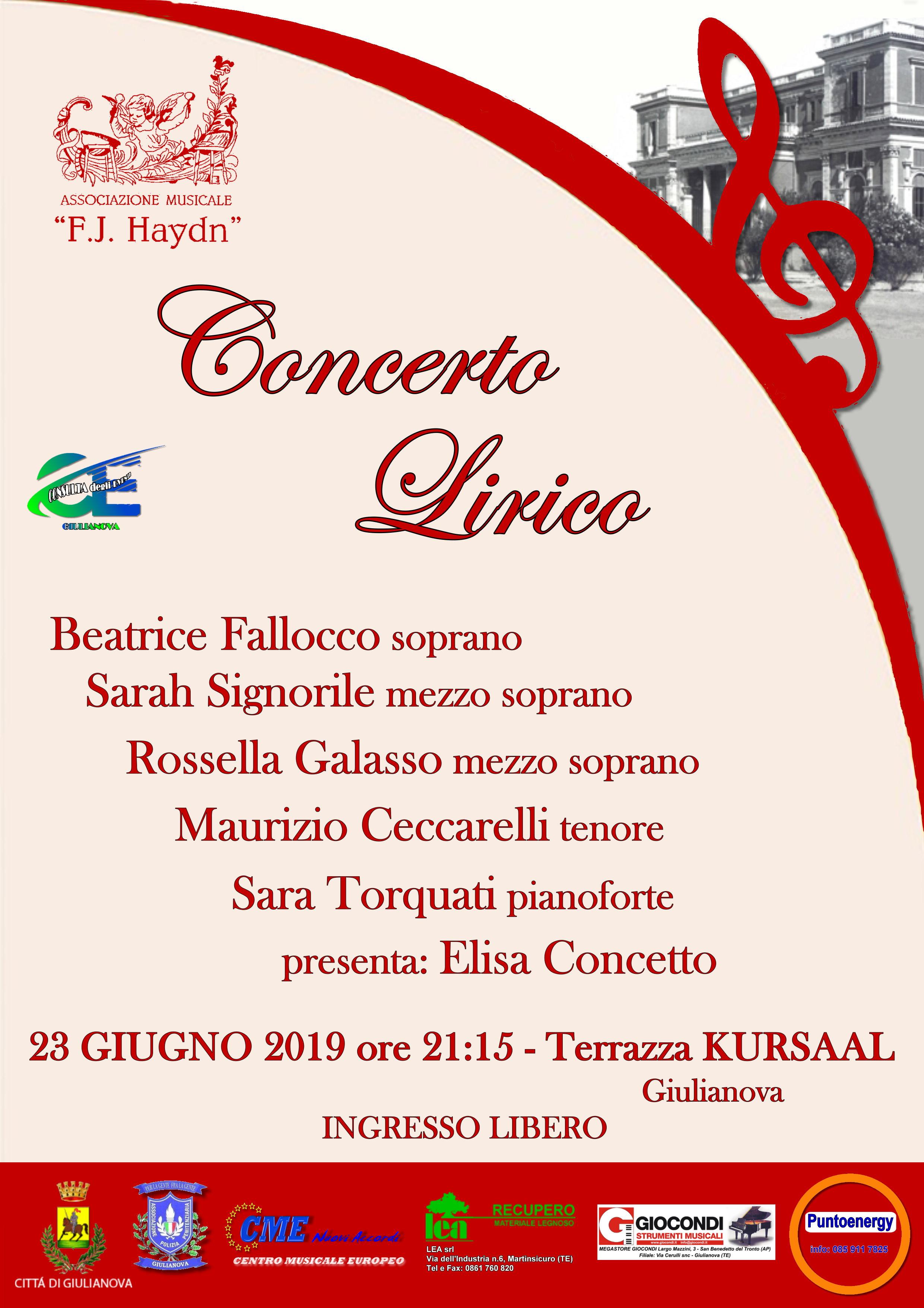 Giulianova, successo per il Concerto lirico al Kursaal