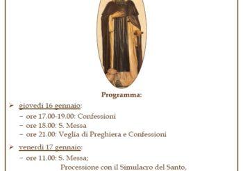 Sant'Antonio Abate 2020 al Convento